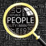 people under magnifying glass