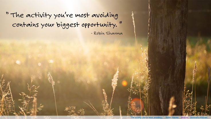 the-activity-youre-most-avoiding-robin-sharma